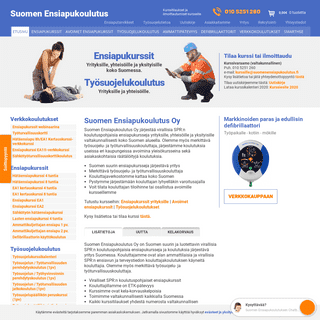 Suomen Ensiapukoulutus Oy - Ensiapukurssit