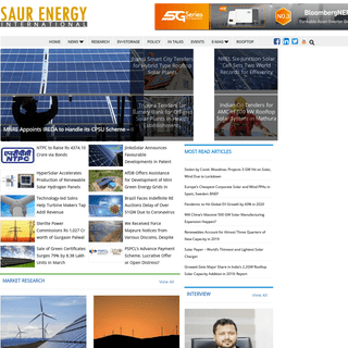 Solar Energy in India - Solar Media - Saur Energy International