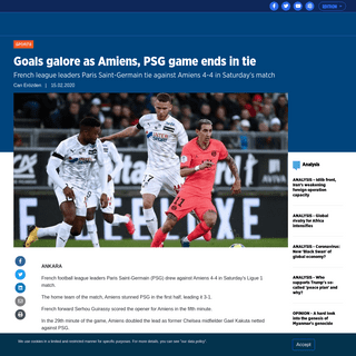 ArchiveBay.com - www.aa.com.tr/en/sports/goals-galore-as-amiens-psg-game-ends-in-tie/1735335 - Goals galore as Amiens, PSG game ends in tie