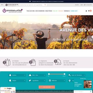Achetez votre vin et champagne en ligne directement au vigneron - Avenue des Vins
