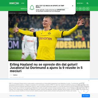 Erling Haaland nu se opreste din dat goluri! Jucatorul lui Dortmund a ajuns la 9 reusite in 5 meciuri - Sport.ro