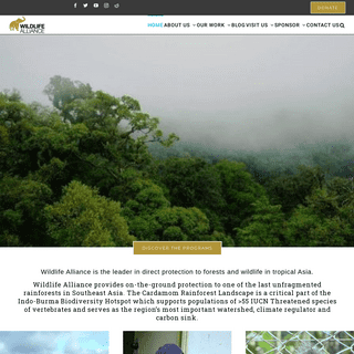 Wildlife Alliance - Direct Protection to Forests and Wildlife