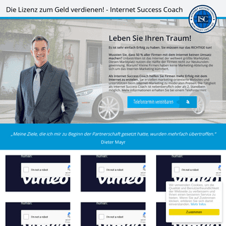 Internet Success Coach - Erfolg mit dem Internet