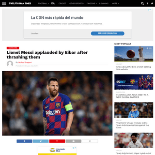 Lionel Messi applauded by Eibar after thrashing them - The12thMan