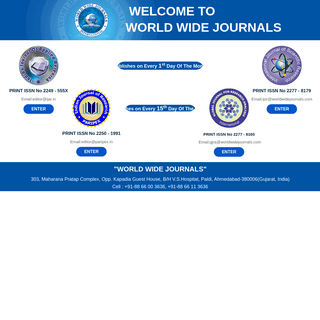 World Wide Journals (WWJ), IJAR, IJSR, GJRA, PARIPEX