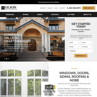 Windows, Doors, Siding, Roofing Barrington IL - Olson
