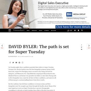 DAVID BYLER- The path is set for Super Tuesday - Columnists - martinsvillebulletin.com