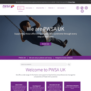 PWSA UK - Support for those living with Prader-Willi Syndrome