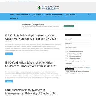 2019-2020 Scholarships for African Students at Home and Abroad