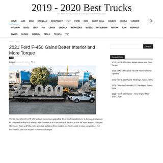 2019 - 2020 Best Trucks - The Best Pickup Trucks For 2019 and 2020 model year