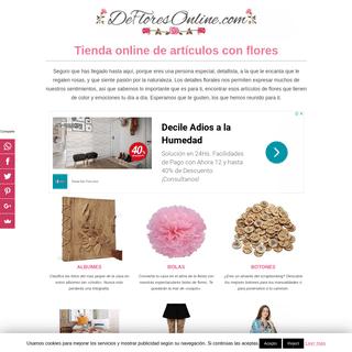 DEFLORESONLINE.COM - Tienda Online de Artículos con Flores
