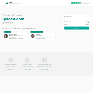 The domain name lpscan.com is for sale