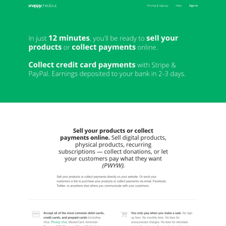 Snappy Checkout - Sell your products or collect payments online