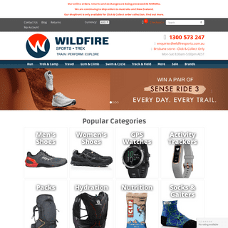 ArchiveBay.com - wildfiresports.com.au - Wildfire Sports & Trek - GPS Watches - Running Shoes - Compasses - Hiking Gear - Nutrition
