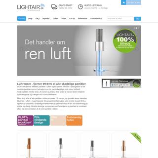 Bedst i test Luftrenser - effektiv luftrenser indeklima - Lightair.dk - bedst i test