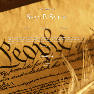 Home - Law Office of Sean P. Smith