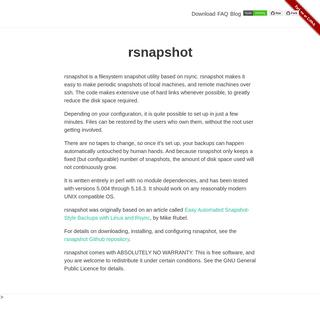 rsnapshot -