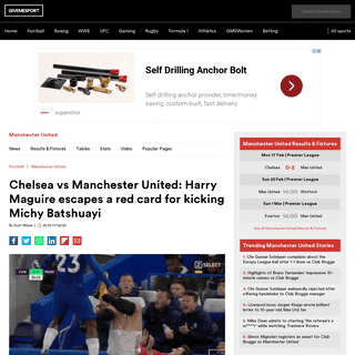 ArchiveBay.com - www.givemesport.com/1547778-chelsea-vs-manchester-united-harry-maguire-escapes-a-red-card-for-kicking-michy-batshuayi - Chelsea vs Manchester United- Harry Maguire escapes a red card for kicking Michy Batshuayi - GiveMeSport