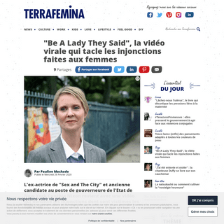 -Be A Lady They Said- - la vidéo qui liste les pressions subies par les femmes - Terrafemina