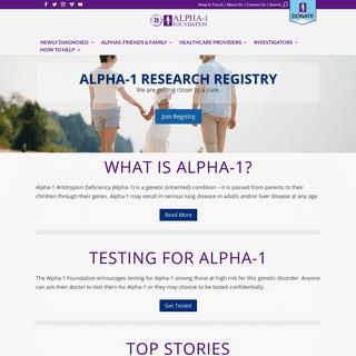 Welcome - Alpha-1 Foundation