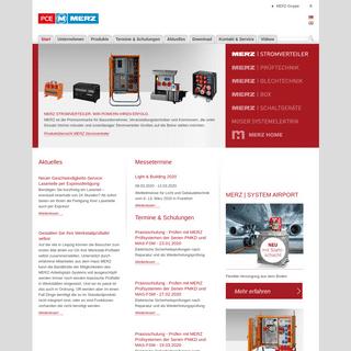 Mobile Stromverteiler, Prüftechnik, Blechtechnik, Schaltgeräte - MERZ GmbH (de)