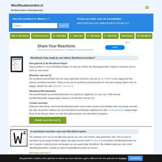 Wordfeud Helper & Cheat - Wordfeudwoorden.nl