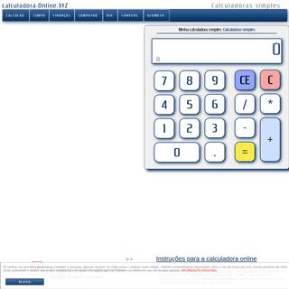 Calculadora simples e grátis para calcular