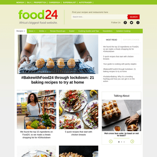 South Africa's Biggest Food Community - Food Recipes - Restaurants and Bars - Wine - Reviews and Food Blogs - Food24