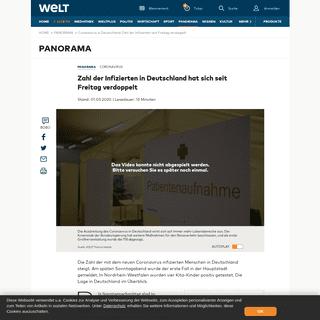 ArchiveBay.com - www.welt.de/vermischtes/article206136215/Coronavirus-Spahn-sieht-Deutschland-am-Beginn-einer-Epidemie.html - Coronavirus in Deutschland- Zahl der Infizierten seit Freitag verdoppelt - WELT
