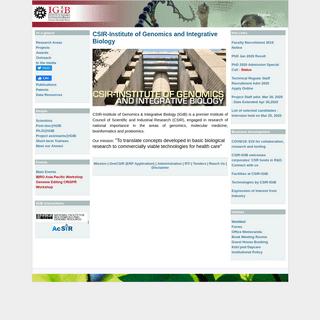CSIR-Institute of Genomics and Integrative Biology - Institute of Genomics and Integrative Biology (CSIR)