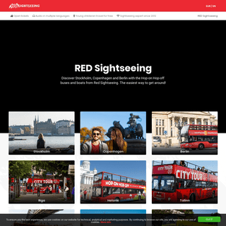 Red Sightseeing Hop-on Hop-off buses and boats. The easiest way to get around! - Redsightseeing