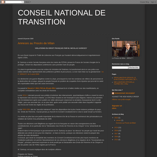 CONSEIL NATIONAL DE TRANSITION