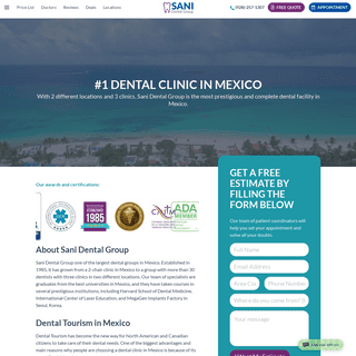 #1 Dental Clinic in Mexico - Sani Dental Group