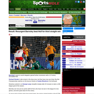 ArchiveBay.com - www.sportsmole.co.uk/football/barnsley/result/result-resurgent-barnsley-beat-hull-for-third-straight-win_391001.html - Result- Resurgent Barnsley beat Hull for third straight win - Sports Mole