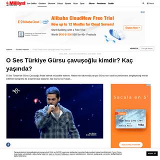 ArchiveBay.com - www.milliyet.com.tr/gundem/o-ses-turkiye-gursu-cavusoglu-kimdir-kac-yasinda-6144965 - O Ses Türkiye Gürsu çavuşoğlu kimdir- Kaç yaşında- - Son Dakika