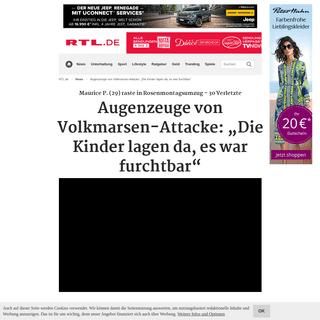 """Augenzeuge von Volkmarsen-Attacke- """"Die Kinder lagen da, es war furchtbar"""""""