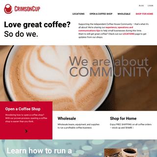 Crimson Cup Coffee & Tea - Coffee Roasters - Coffee Franchise Alternative - Columbus, Ohio