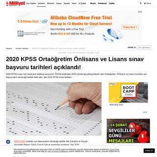 2020 KPSS Ortaöğretim Önlisans ve Lisans sınav başvuru tarihleri açıklandı! - Haberler