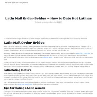 Latin Mail Order Brides - How to Date Hot Latinas - belgradeundergroundtour.com
