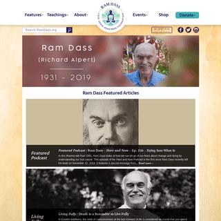 ArchiveBay.com - ramdass.org - Wisdom on Love, Meditation, Stress, and Dying - Ram Dass 2020