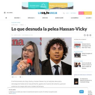 Lo que desnuda la pelea Hassan-Vicky - La Silla Vacía