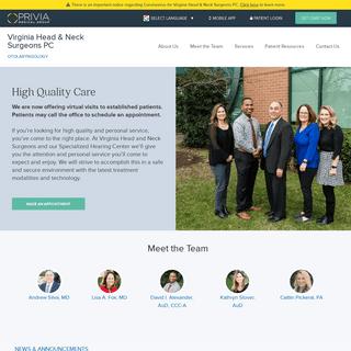 Virginia Head & Neck Surgeons PC - Leesburg, VA Otolaryngologists