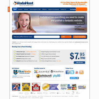 VodaHost Web Hosting - cPanel Hosting
