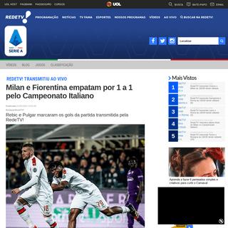 ArchiveBay.com - www.redetv.uol.com.br/esportes/campeonatoitaliano/blog/campeonato-italiano/milan-e-fiorentina-empatam-por-1-a-1-pelo-campeonato-italiano - Milan e Fiorentina empatam por 1 a 1 pelo Campeonato Italiano - Campeonato Italiano - RedeTV!