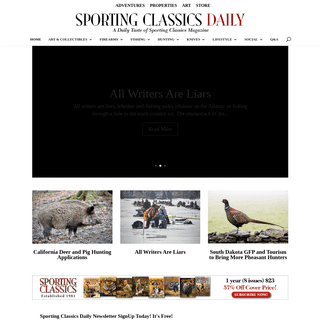 Best Hunting And Fishing Magazine HOME PAGE - Sporting Classics Daily