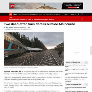 Melbourne train derailment- Two dead after train comes off tracks - CNN