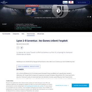 Lyon-Juventus - Lyon 1-0 Juventus- les Gones créent l'exploit - UEFA Champions League - UEFA.com