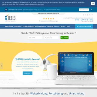 Weiterbildung, Umschulung oder Fortbildung beim IBB