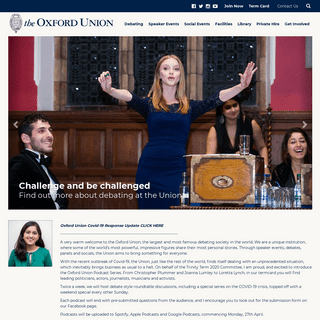 Home - the Oxford Union