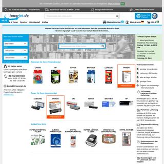 Druckerpatronen, Toner und Drucker online bestellen - tonerjet.de